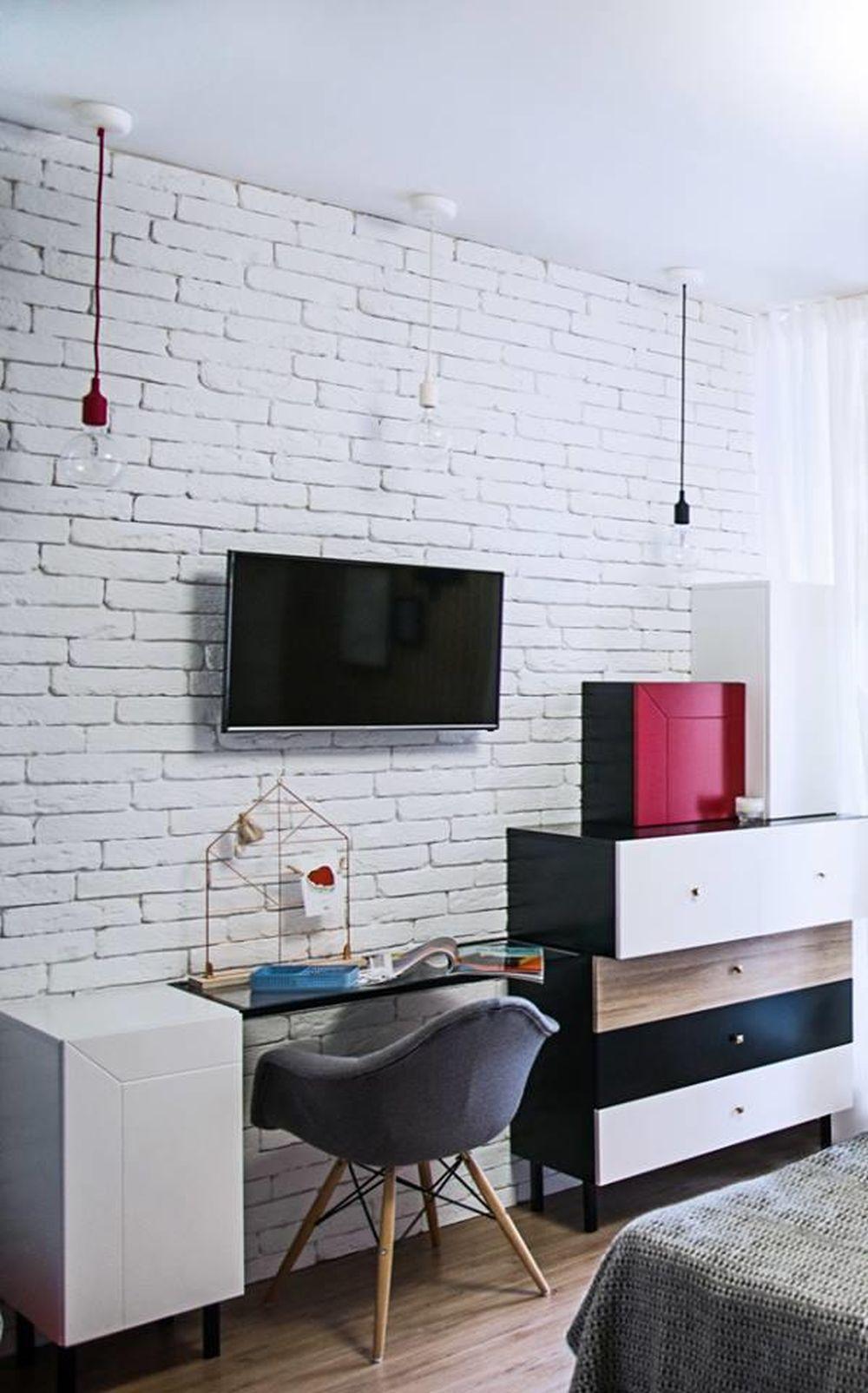 adelaparvu.com despre garsoniera 44 mp transformata in locuinta de 2 camere, Design BoHoStudio (20)