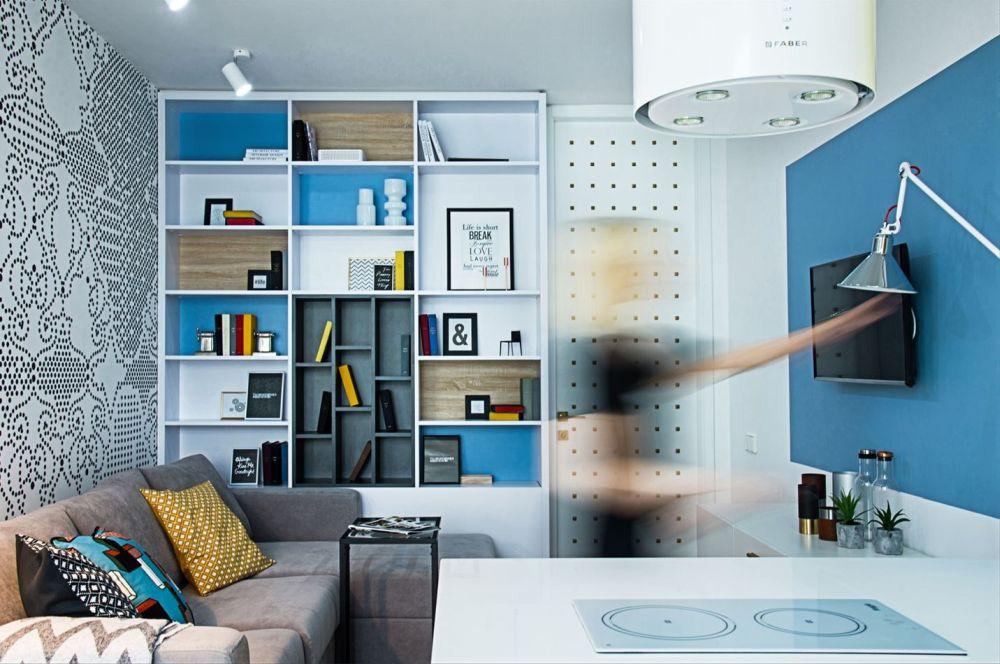 adelaparvu.com despre garsoniera 44 mp transformata in locuinta de 2 camere, Design BoHoStudio (6)