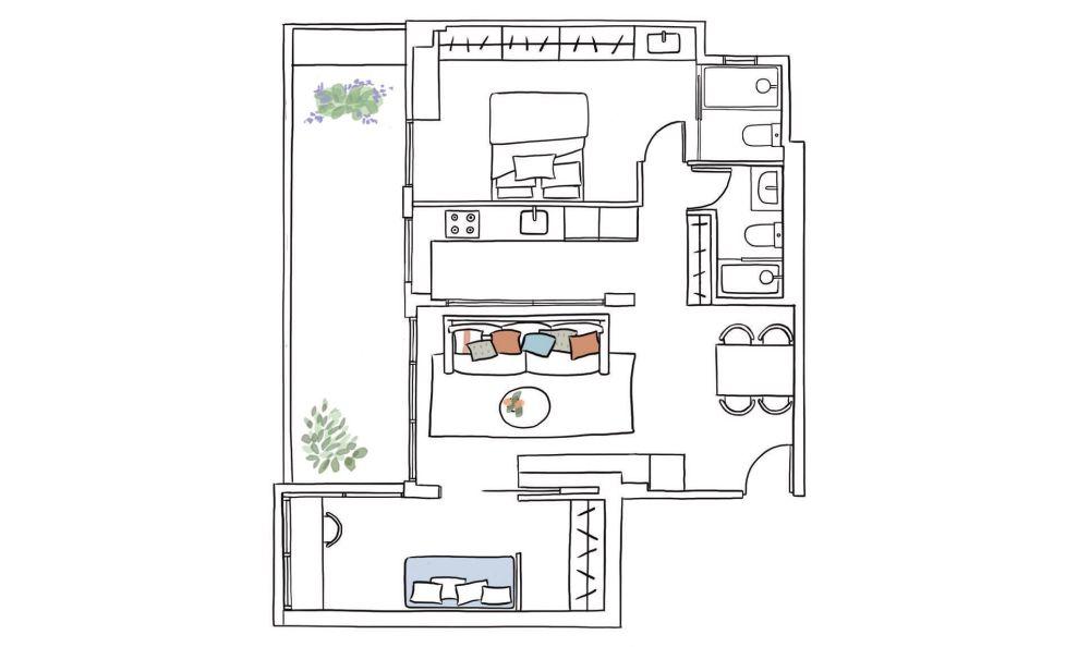 adelaparvu.com despre reamenajare apartament de 60 mp, Designer Pia Cadevila, Foto Pepa Oromi, ElMueble (7)
