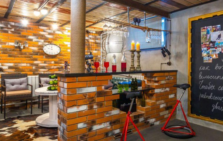 adelaparvu.com despre garaj transformat in club barbatesc, Designer Julia Tolkacheva, Foto Yuri Tokarev (2)