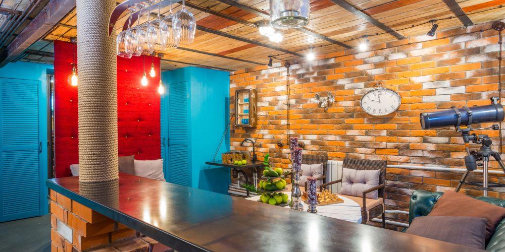 adelaparvu.com despre garaj transformat in club barbatesc, Designer Julia Tolkacheva, Foto Yuri Tokarev (9)