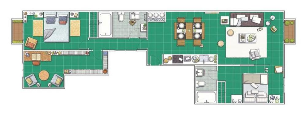 adelaparvu.com despre apartament lung si ingust de 55 mp, tip loft, Barcelona, Foto Hearst Documentation (1)