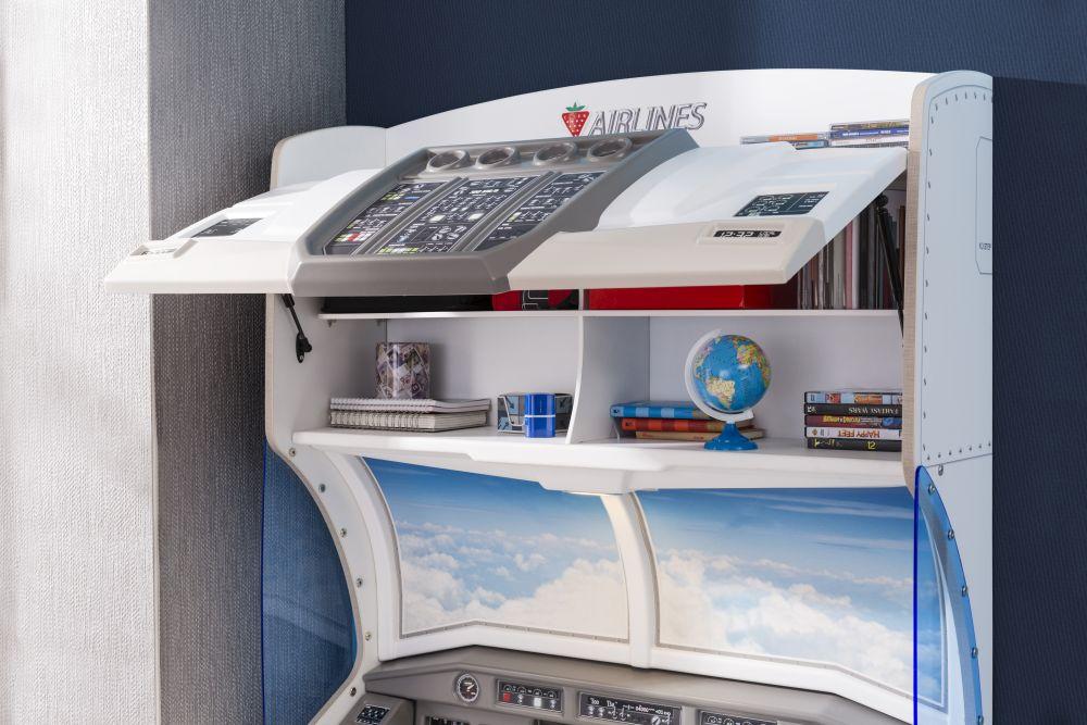 adelaparvu.com despre colectia mobila de tineret First Class de la Kika, tema aviatie (1)