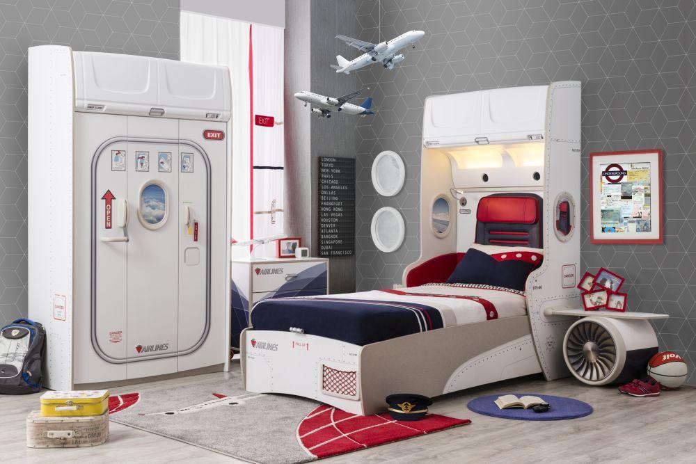 adelaparvu.com despre colectia mobila de tineret First Class de la Kika, tema aviatie (13)