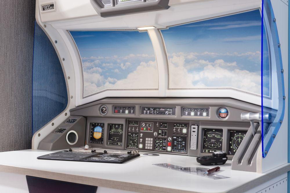 adelaparvu.com despre colectia mobila de tineret First Class de la Kika, tema aviatie (2)