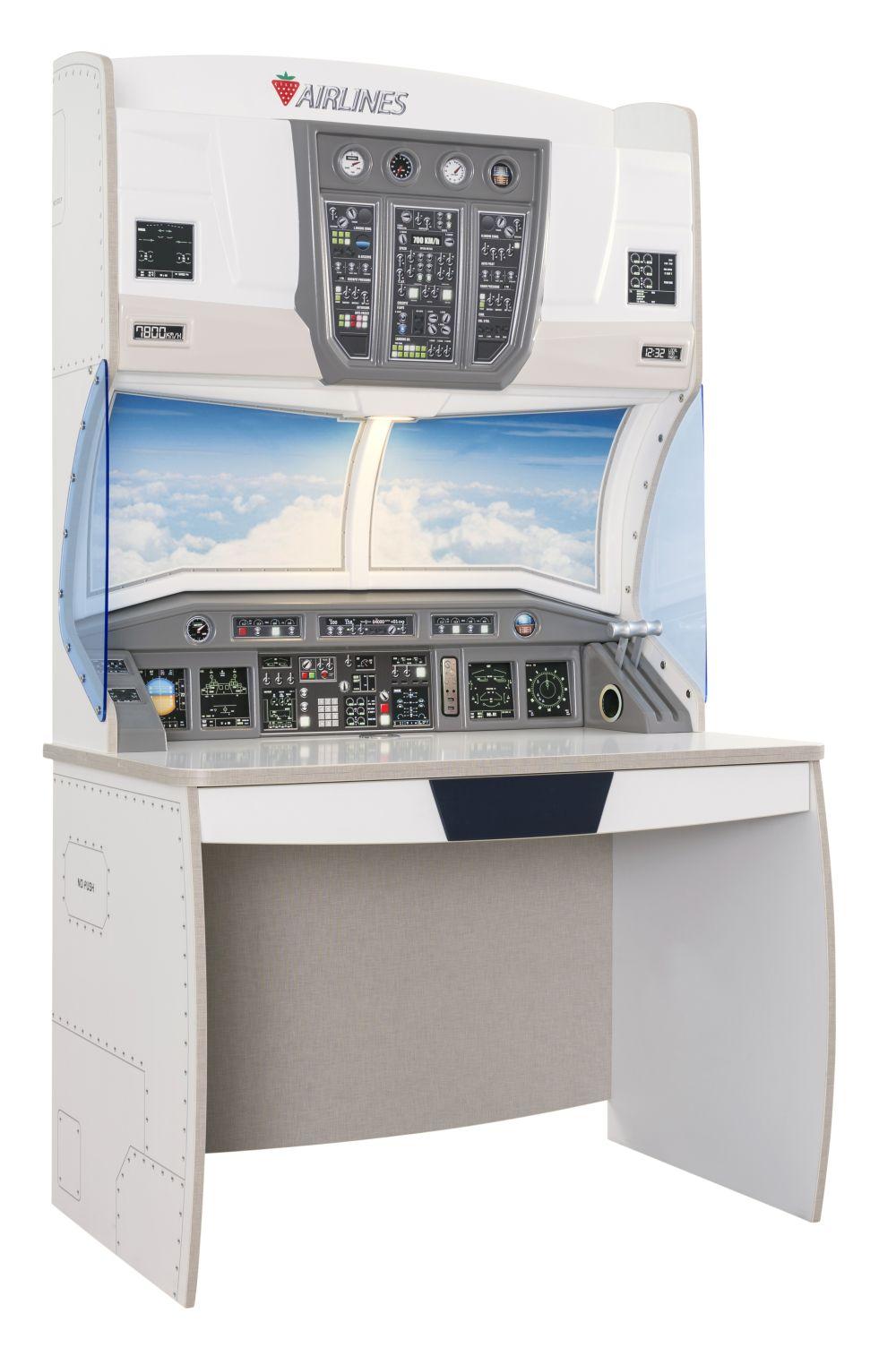 adelaparvu.com despre colectia mobila de tineret First Class de la Kika, tema aviatie (4)