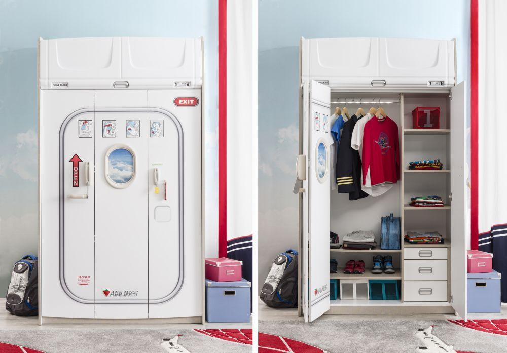 adelaparvu.com despre colectia mobila de tineret First Class de la Kika, tema aviatie (5)