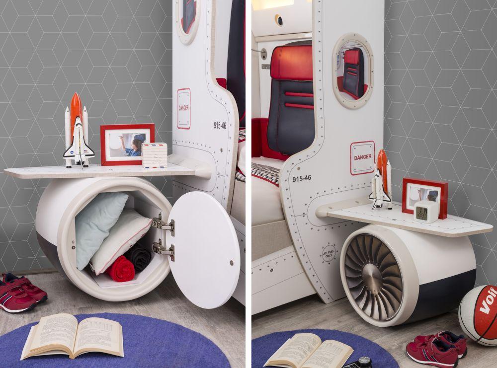 adelaparvu.com despre colectia mobila de tineret First Class de la Kika, tema aviatie (6)