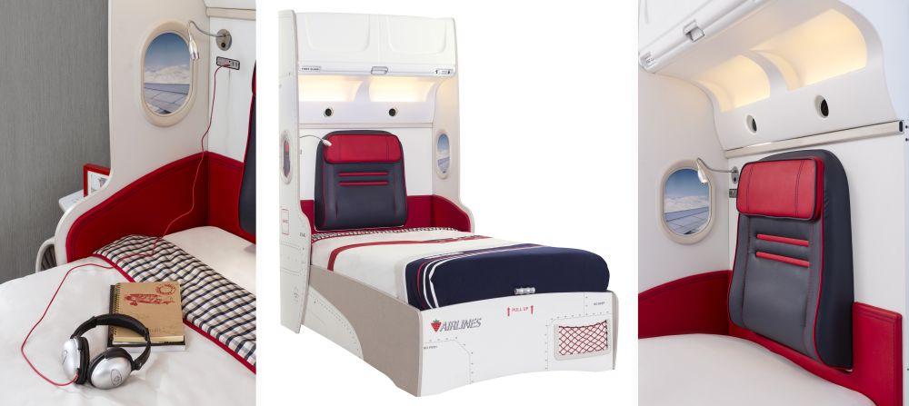adelaparvu.com despre colectia mobila de tineret First Class de la Kika, tema aviatie (7)