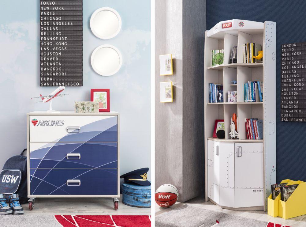 adelaparvu.com despre colectia mobila de tineret First Class de la Kika, tema aviatie (9)