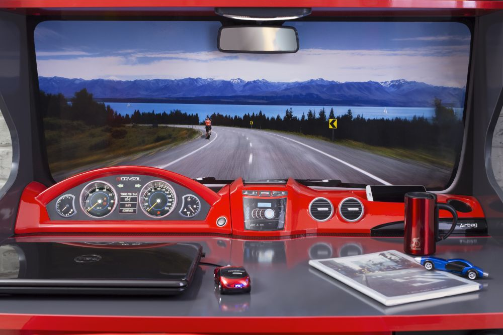 adelaparvu.com despre mobila de tineret personalizata, tema auto, de la Kika (3)