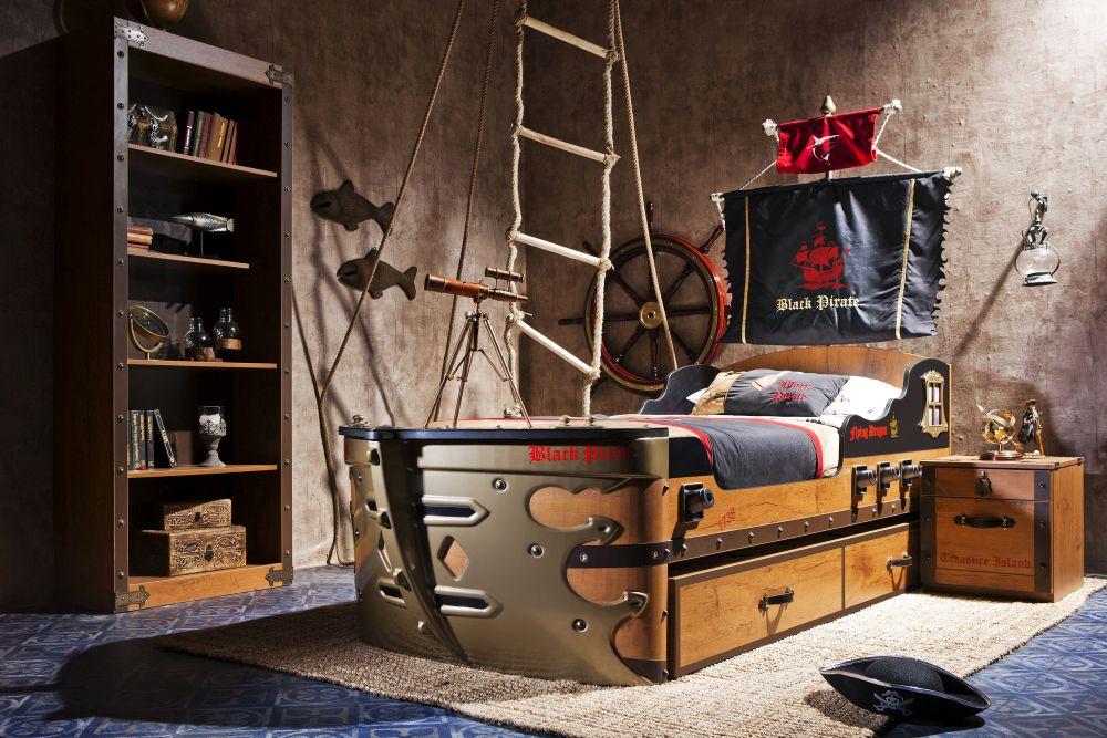 adelaparvu.com despre mobila personalizata tema pirati, camere copii Pirate de la Kika (10)