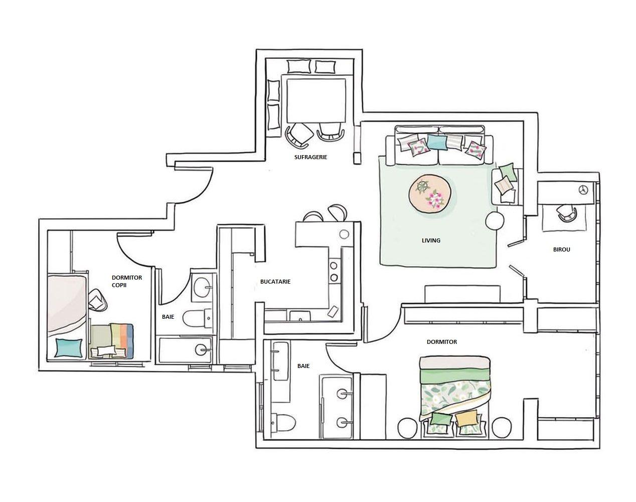 adelaparvu.com despre apartament 80 mp, Barcelona, design Drom Living (7)