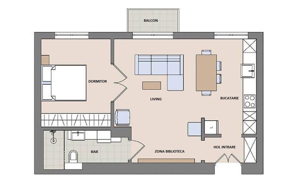 adelaparvu.com despre apartament de 2 camere, 50 mp, Polonia, designer Kamila Kuboth-Schuchardt, Foto Michał Mutor (12)