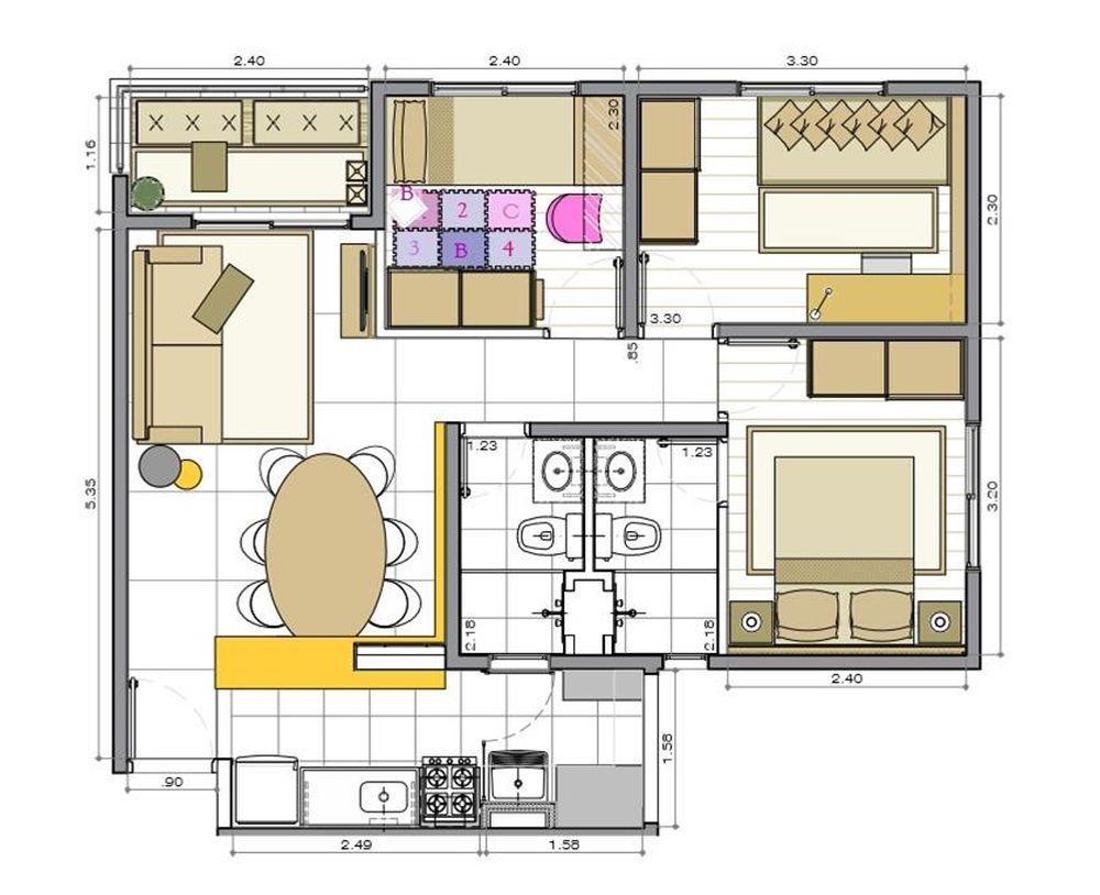 adelaparvu.com despre apartament de 59 mp, din 2 camere in 4, arhitect Andrea Pontes, Foto Rafael Renzo (16)
