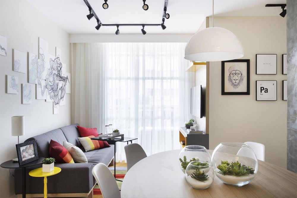 adelaparvu.com despre apartament de 59 mp, din 2 camere in 4, arhitect Andrea Pontes, Foto Rafael Renzo (27)