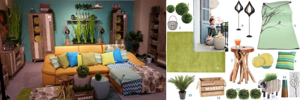 adelaparvu.com despre decorarea livingului, ambient si mood board in stil natura; Kika