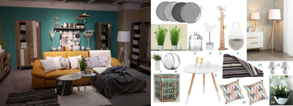 adelaparvu.com despre decorarea livingului, ambient si mood board in stil nordic Kika