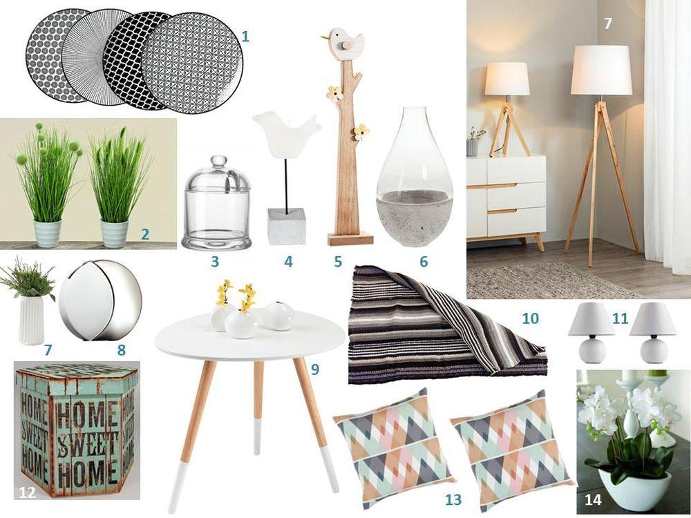 adelaparvu.com despre decorarea livingului cu produse Kika, mood board, panou cu idei produse (1)