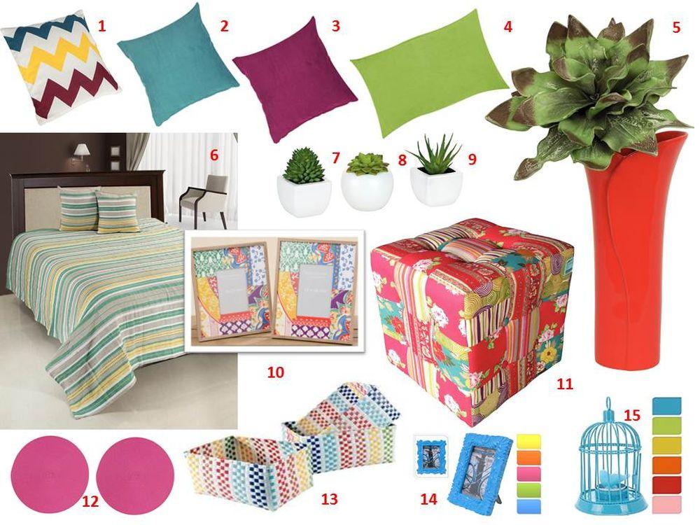 adelaparvu.com despre decorarea livingului cu produse Kika, mood board, panou cu idei produse (2)