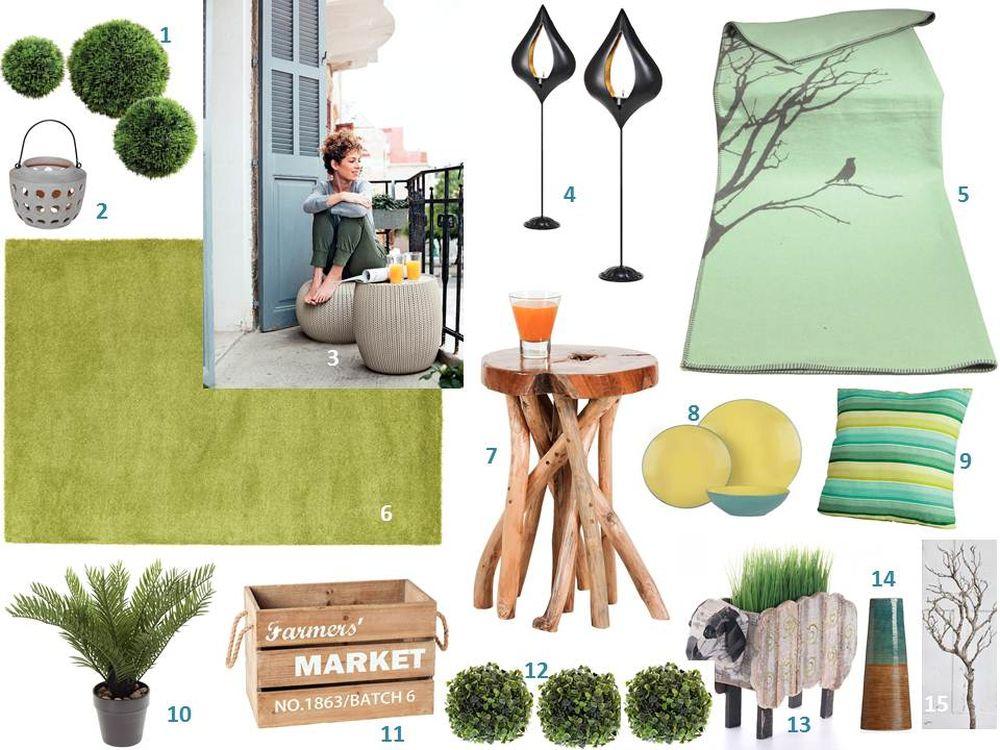 adelaparvu.com despre decorarea livingului cu produse Kika, mood board, panou cu idei produse (3)
