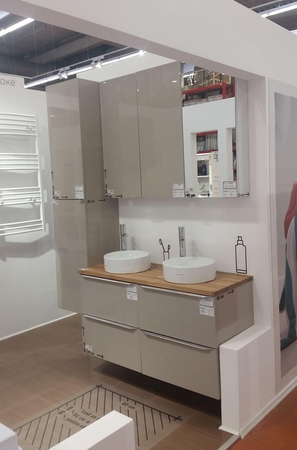 adelaparvu.com despre mobila de baie la Brico Depot, gama Imandra (1)