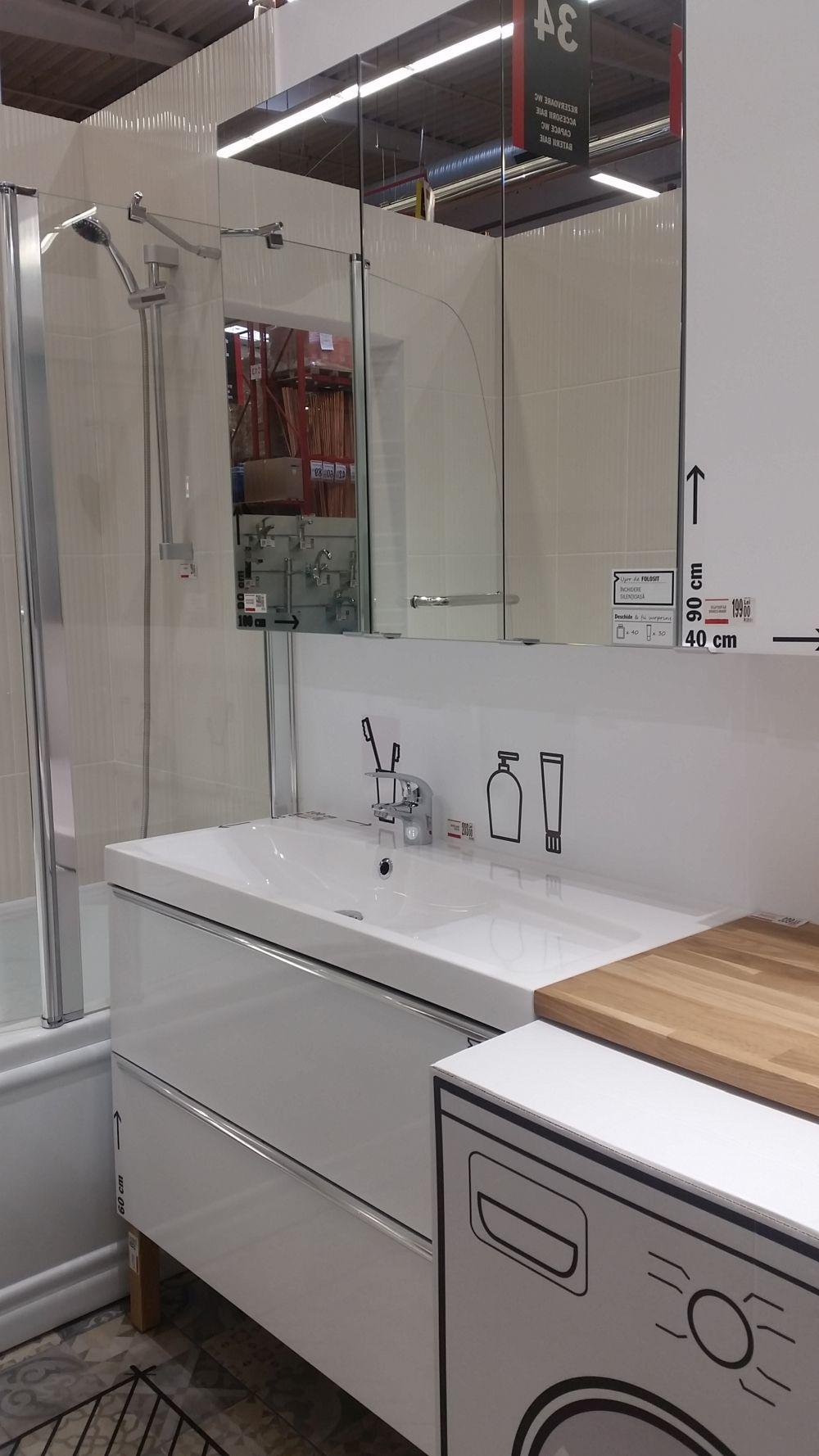 adelaparvu.com despre mobila de baie la Brico Depot, gama Imandra (14)