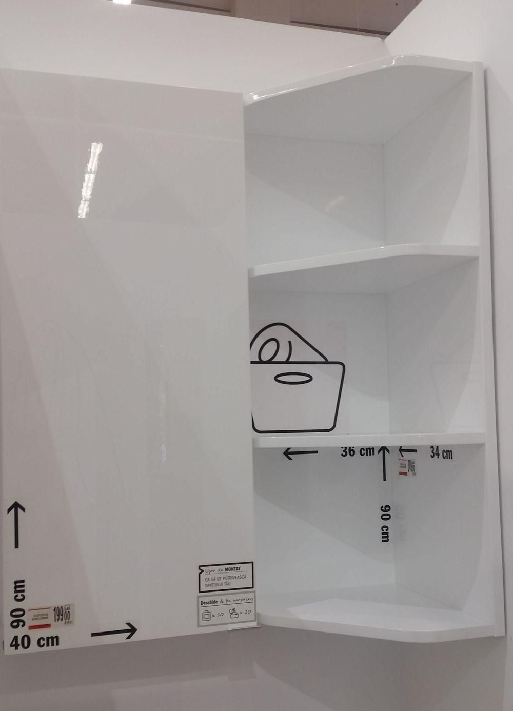 adelaparvu.com despre mobila de baie la Brico Depot, gama Imandra (18)