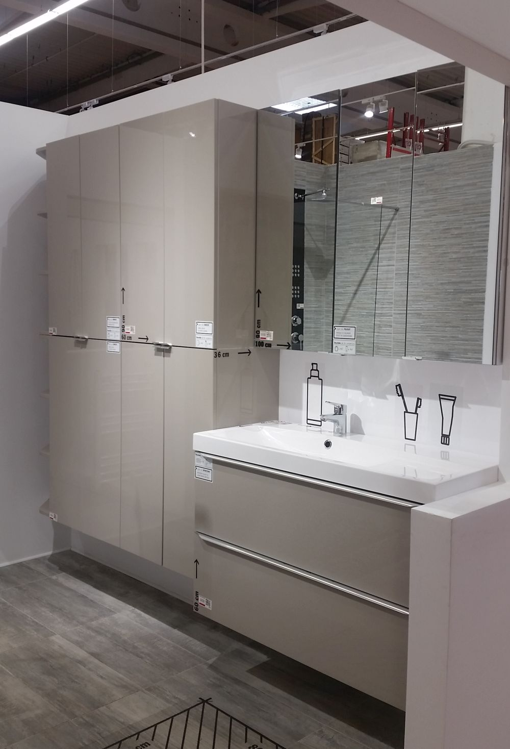 adelaparvu.com despre mobila de baie la Brico Depot, gama Imandra (8)