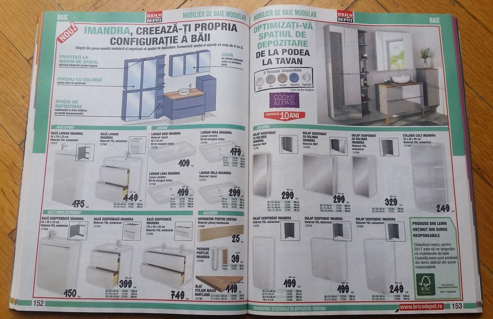 adelaparvu.com despre mobila de baie la Brico Depot, gama Imandra preturi