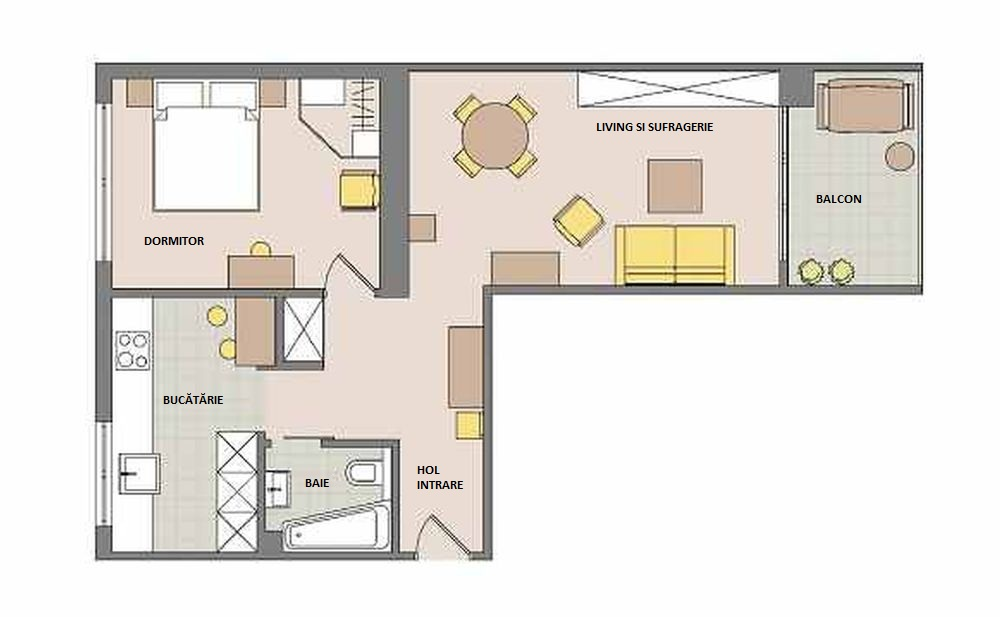 adelaparvu.com despre apartament cu accente de galben, designer Macieja Kocoja, Foto Mariusz Purta (15)