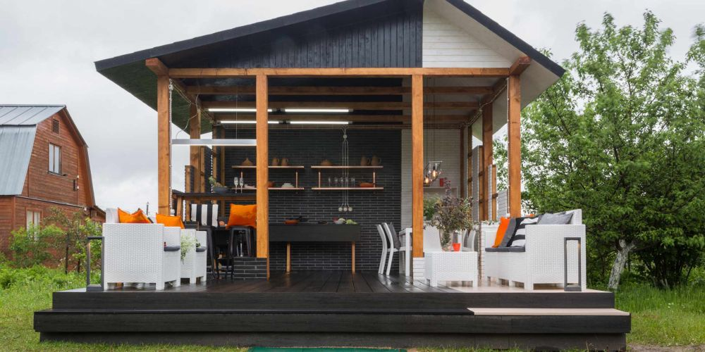 adelaparvu.com despre chiosc de gradina in stil industrial, design Liudmila Verba, Foto Olga Oliushina (10)
