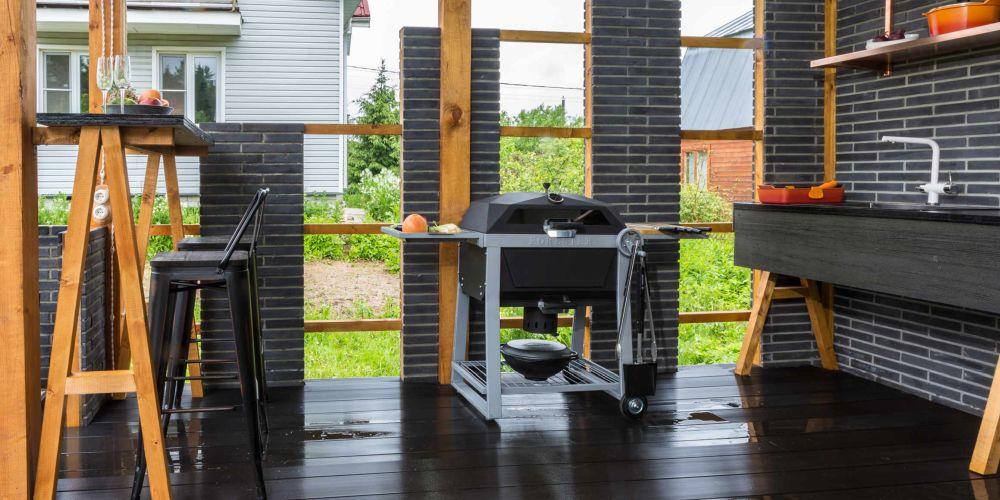 adelaparvu.com despre chiosc de gradina in stil industrial, design Liudmila Verba, Foto Olga Oliushina (3)