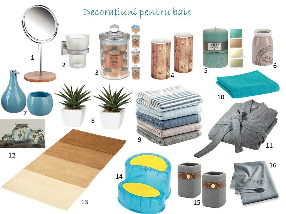 adelaparvu.com despre decorarea camerei de baie, in foto produse Kika, mood board bathroom
