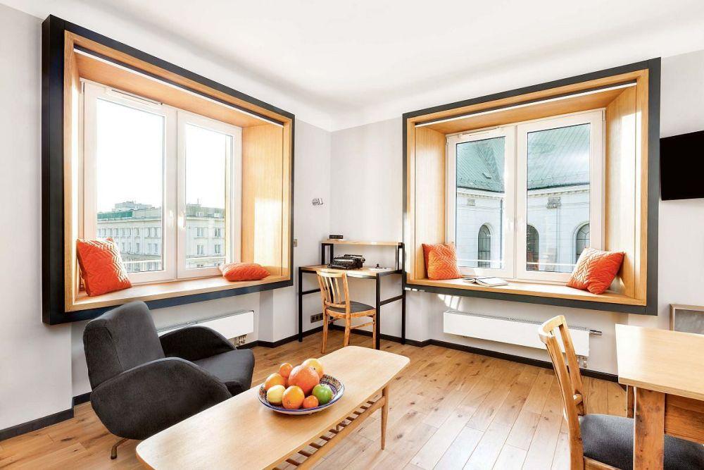 adelaparvu.com despre garsoniera 37 mp cu 4 locuri de dormit, Varsovia, design KlamaStudio, Foto Monika Filipiuk-Obalek (3)