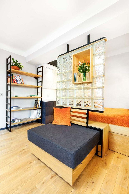 adelaparvu.com despre garsoniera 37 mp cu 4 locuri de dormit, Varsovia, design KlamaStudio, Foto Monika Filipiuk-Obalek (7)