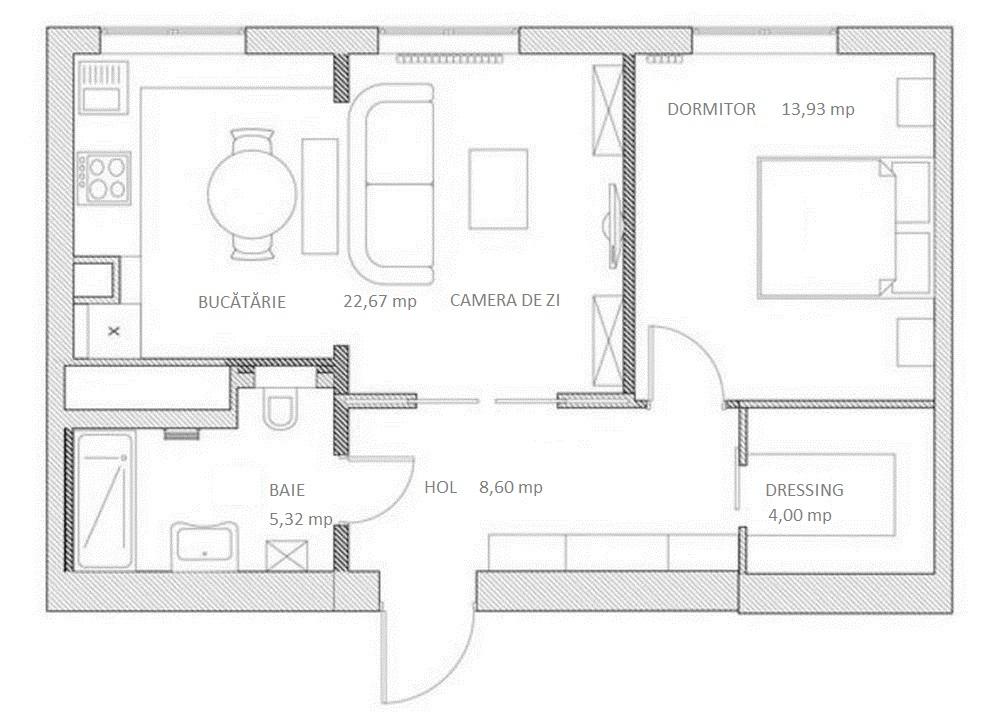 adelaparvu.com despre amenajare romantica apartament de 2 camere, 55 mp, design Svetlana Yurkova (4)