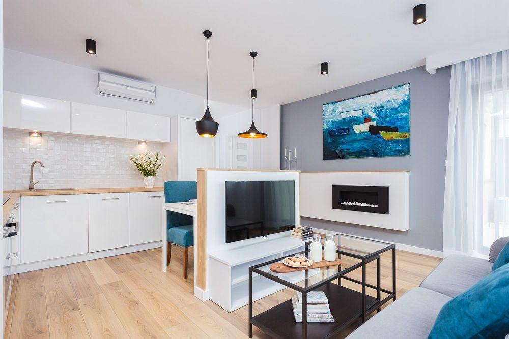 adelaparvu.com despre apartament 55 mp cu loc tv in centrul livingului, Design interior Justyna Lewicka Design (14)