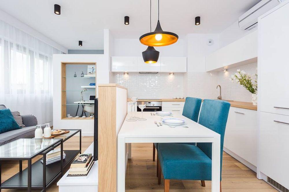 adelaparvu.com despre apartament 55 mp cu loc tv in centrul livingului, Design interior Justyna Lewicka Design (4)