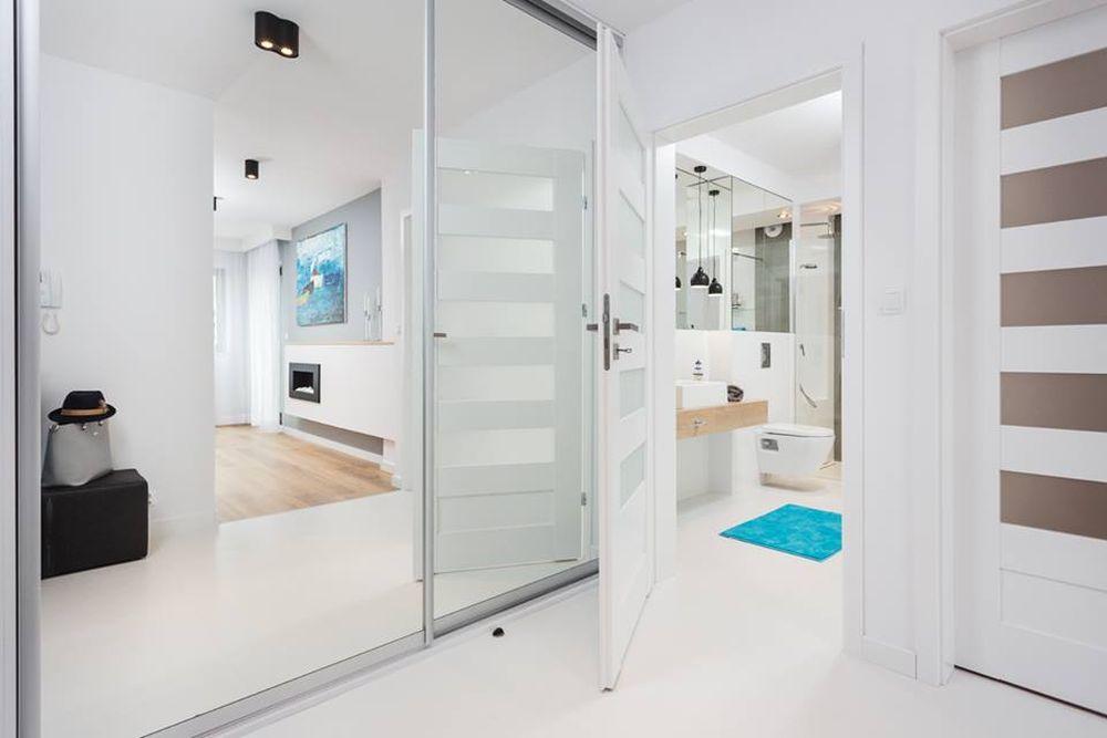 adelaparvu.com despre apartament 55 mp cu loc tv in centrul livingului, Design interior Justyna Lewicka Design (6)
