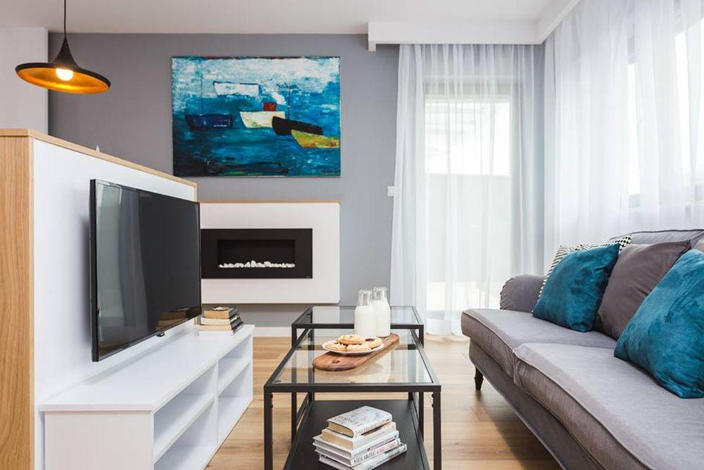 adelaparvu.com despre apartament 55 mp cu loc tv in centrul livingului, Design interior Justyna Lewicka Design (7)