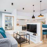 adelaparvu.com despre apartament 55 mp cu loc tv in centrul livingului, Design interior Justyna Lewicka Design (8)