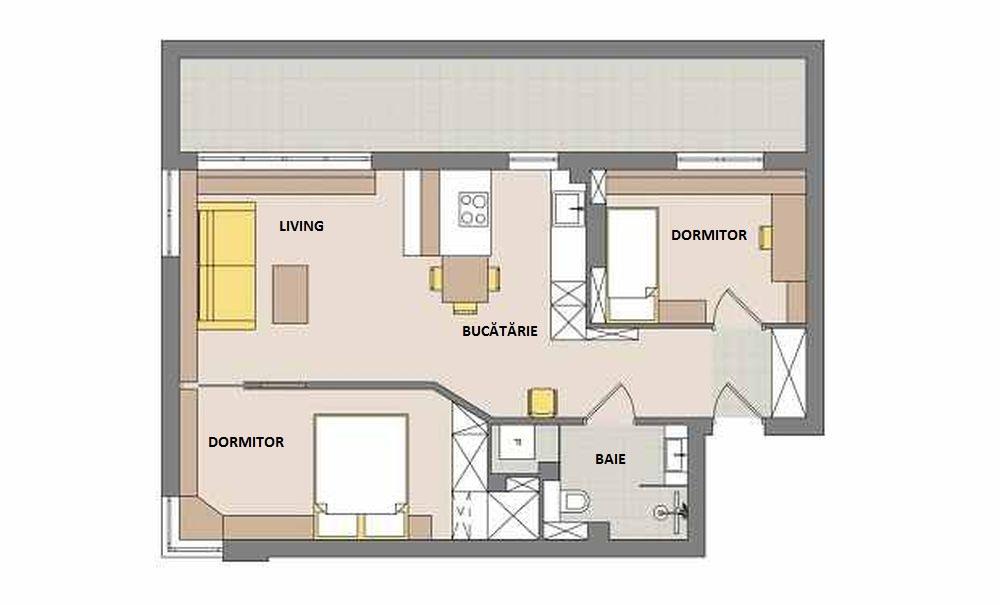 adelaparvu.com despre apartament 62 mp situat pe nord, design Devangari Design (12)