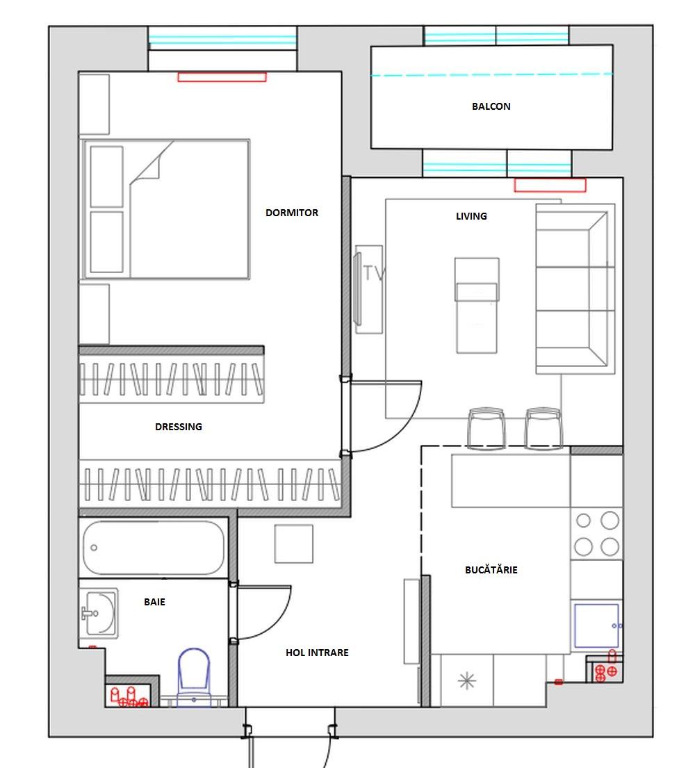 adelaparvu.com despre apartament de 2 camere in 40 mp, design Marina Novikova si Olga Ljubis, Foto Mikhail Loskutov (2)