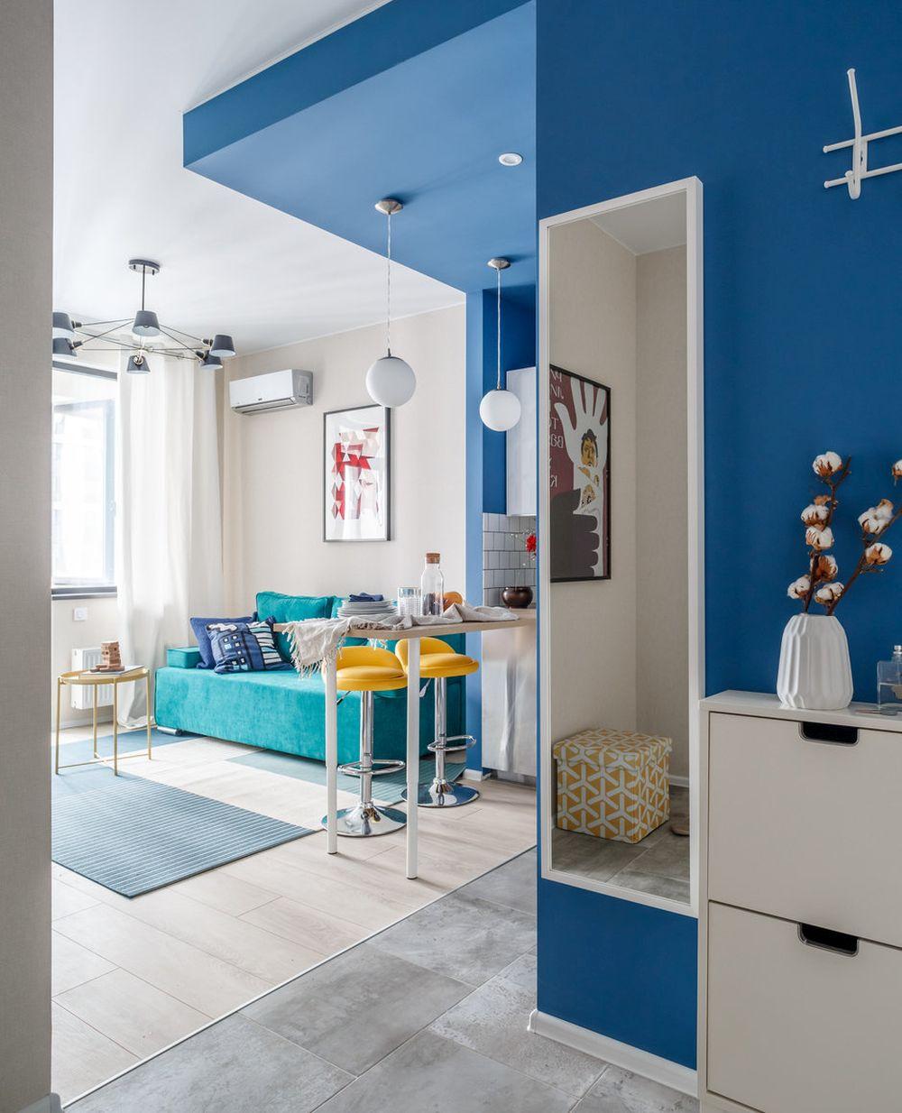 adelaparvu.com despre apartament de 2 camere in 40 mp, design Marina Novikova si Olga Ljubis, Foto Mikhail Loskutov (5)