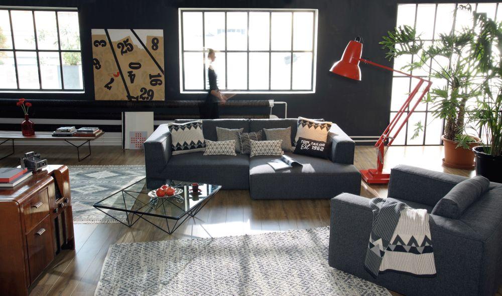 """Canapea """"Big Cube"""" Tom Tailor. Dimensiuni L/H/A:270 x 122 x 90 cm. VEZI PREȚ AICI"""