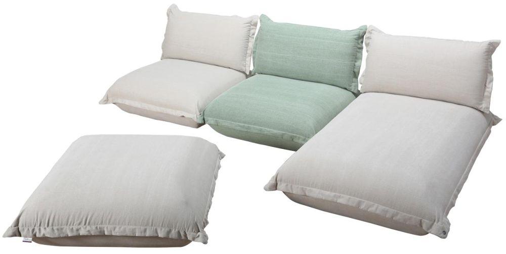 "Colțar ""Cushion"" brand Tom Tailor. Dimensiuni L/H/A:288/192/78 cm. Vezi preț AICI."