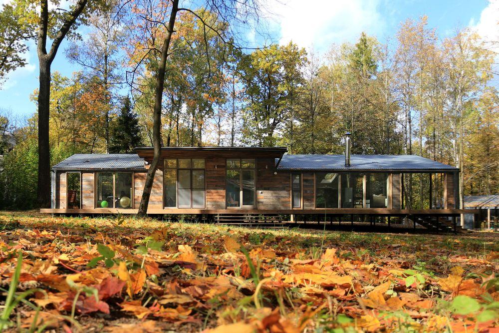 adelaparvu.com despre casa din lemn construita in 10 zile, 110 mp, arhitectura Bio Architects, constructie DublDom (1)