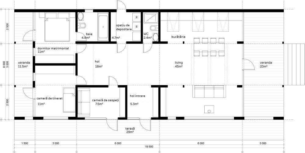 adelaparvu.com despre casa din lemn construita in 10 zile, 110 mp, arhitectura Bio Architects, constructie DublDom (12)
