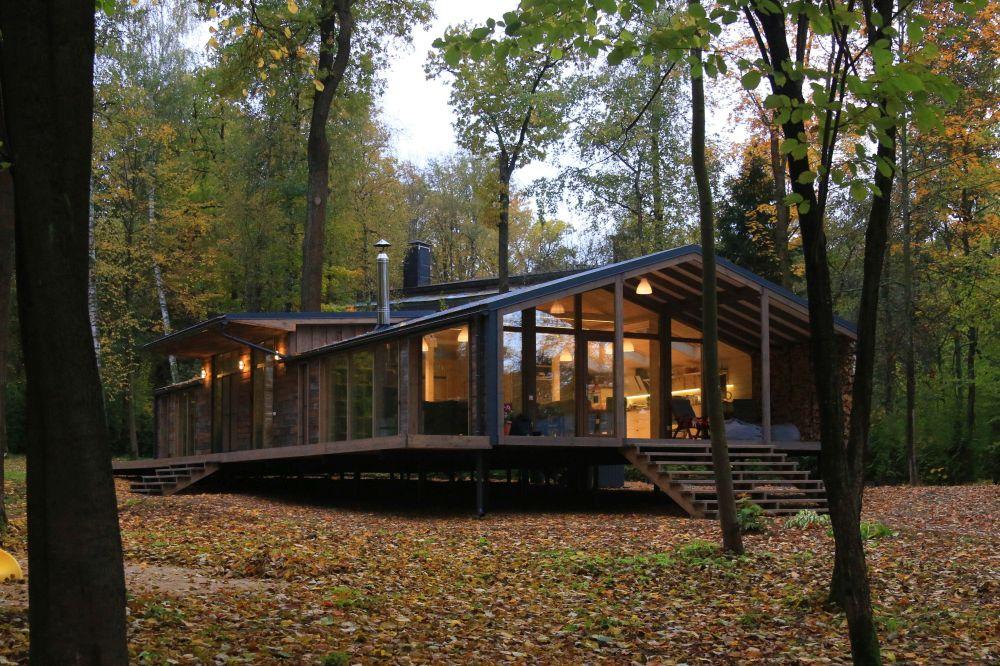 adelaparvu.com despre casa din lemn construita in 10 zile, 110 mp, arhitectura Bio Architects, constructie DublDom (3)